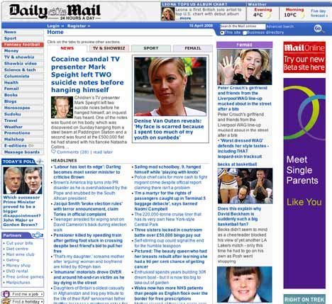 daily mail launches new website try it here daily mail