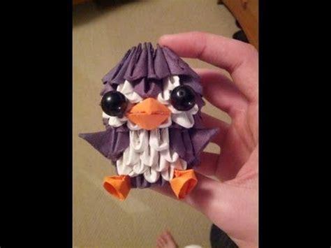 3d origami penguin tutorial youtube 3d origami penguin youtube 3d origami pinterest 3d