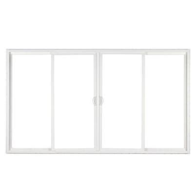 Simonton 143 5 In X 79 5 In 4 Panel Contemporary Vinyl Home Depot Sliding Glass Patio Doors