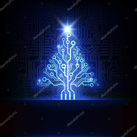 technology christmas tree stock vector 169 germina 32610799