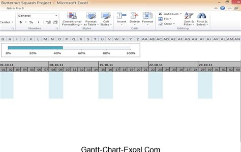 progress chart excel template gantt chart excel template cooking butternut squash