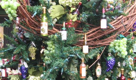 wine theme christmas tree domesticated everything s bigger and cuter in our tree