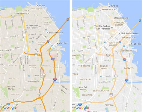 design in google maps google maps updates map design highlights areas of