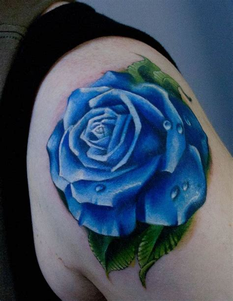 60 Beautiful Rose Tattoo Inspirations Rose Tattoos Blue Flower Tattoos Designs