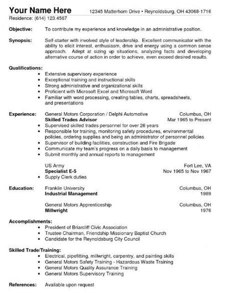 Sample Resume For Warehouse Position
