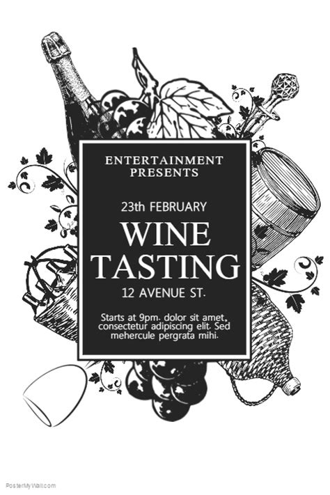 wine flyer template wine tasting flyer template postermywall