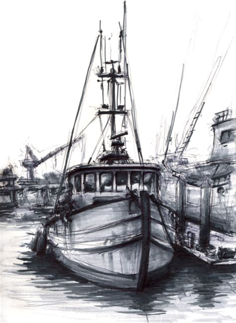 fishing boat sketch simple fishing boat drawing www imgkid the image
