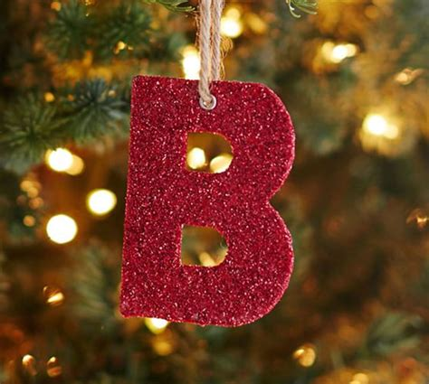 Looking For Ornaments - german glitter alphabet ornaments pottery barn