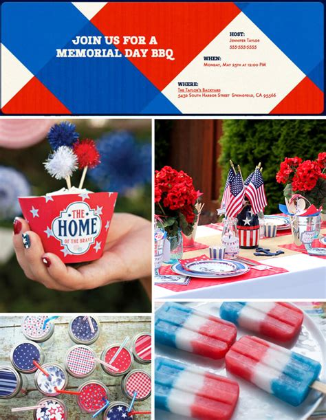 bbq invitation 4th of july memorial day birthday party couples