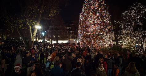 princeton palmer square tree lighting nj tree lightings