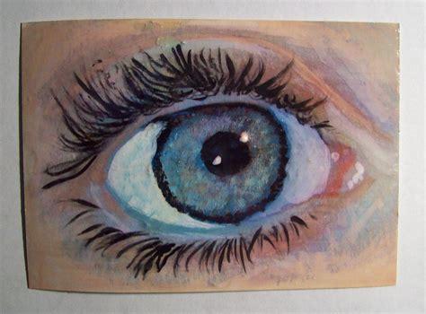 acrylic painting eye s eye aceo painting original acrylic signed by