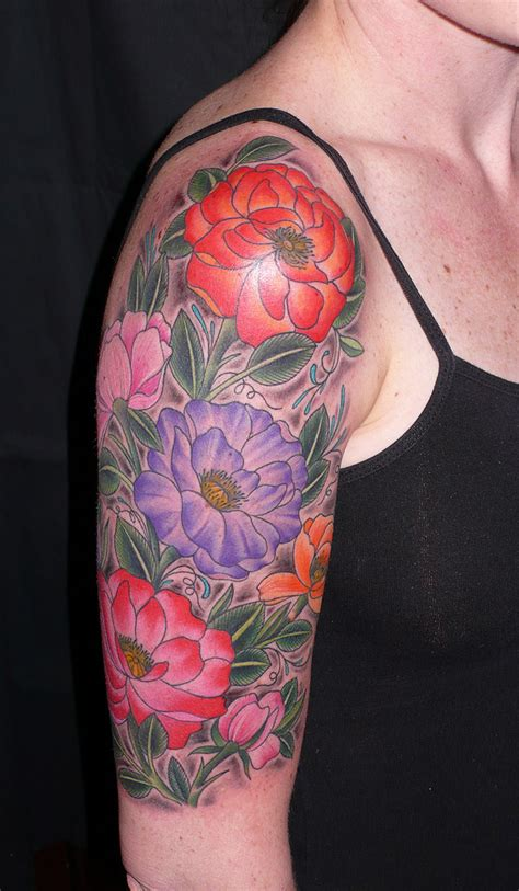floral tattoo quarter sleeve flower sleeve tattoos designs ideas and meaning tattoos