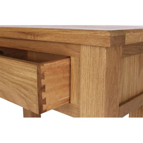 Narrow Oak Console Table Solid Oak Narrow Console Table 1 Drawer Lower Shelf 163 82 97 Picclick Uk