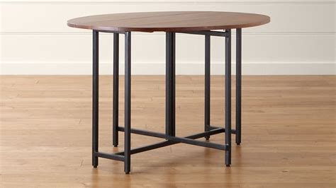 dining room tables crate and barrel origami drop leaf oval dining table crate and barrel