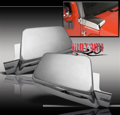 hummer h3 air intake cover 06 10 hummer h3 side air intake vents covers chrome