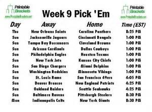 Office Football Pool Week 9 Nfl Em Week 9 Pro Football Em Week 9