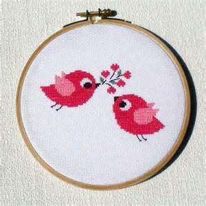 two birds cross stitch pattern arts crafts and design finds