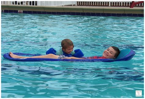 relaxation in the pool with swimways spring float giveaway