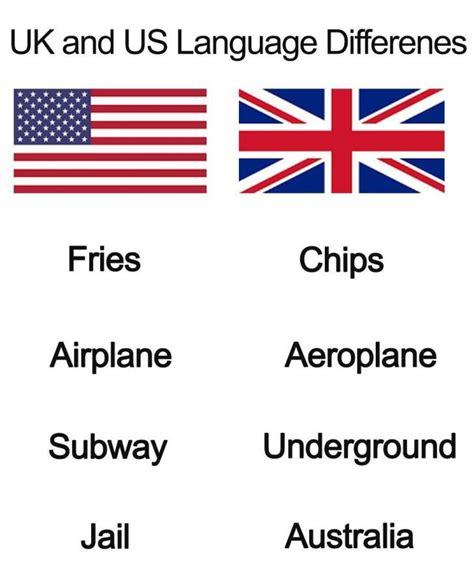 Language Differences Meme - us vs uk language differences