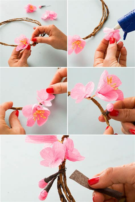 cherry tree xenia follow this tutorial to create a cherry blossom flower crown crafts projects diys