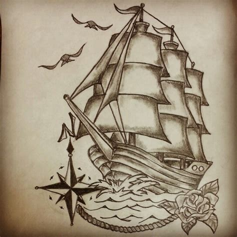 clipper ship tattoo designs traditional ship by ranz