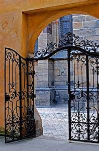 Decorative Iron Gates by Custom Castle Wrought Iron Gates Ornamental Gates