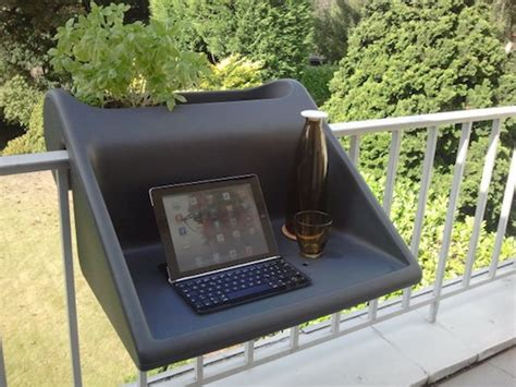 a hook on desk for your balcony for a new view when