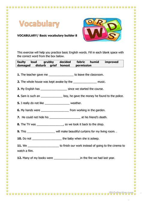 Esl Reading And Writing Worksheets by Vocabulary 8 Worksheet Free Esl Printable Worksheets