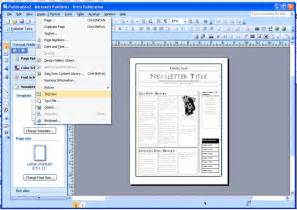 Microsoft Publisher Newsletter Templates by Ewslibrary Publisher