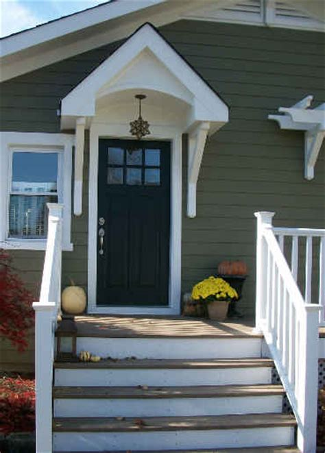 Side Door Awning Turning A Plain House Into A Craftsman Style Cottage
