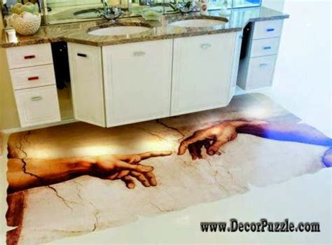 3d painting bathroom floor 3d bathroom floor murals designs and self leveling floors