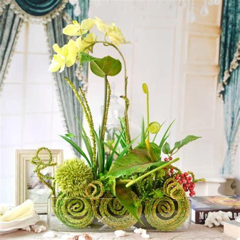 Charmant Plante Dans Chambre A Coucher #6: decoration-florale-originale-orchidees-jaunes.jpg