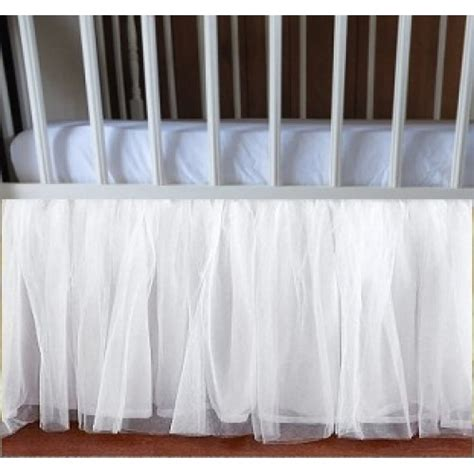 White Tulle Crib Skirt by Adorable Tulle White Ruffle Crib Skirt In All Sizes Drop