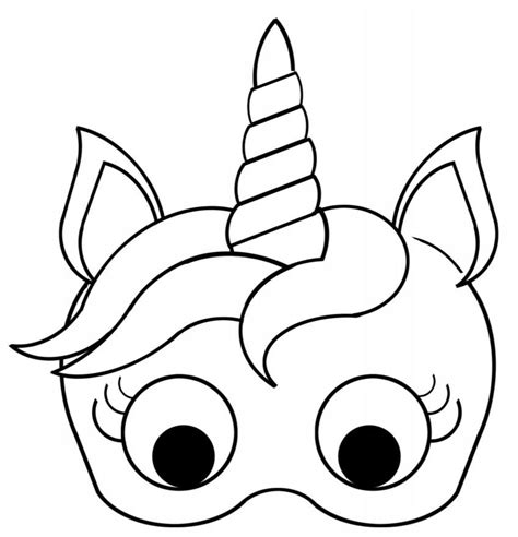mask template pin by lawanda brindley on unicorn