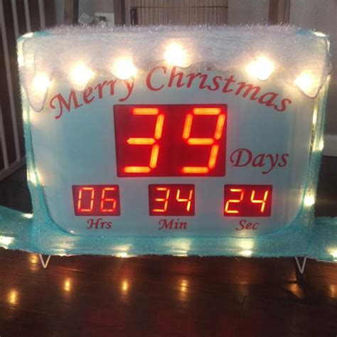 outdoor christmas countdown digital clock find more lighted countdown clock for sale at up to 90