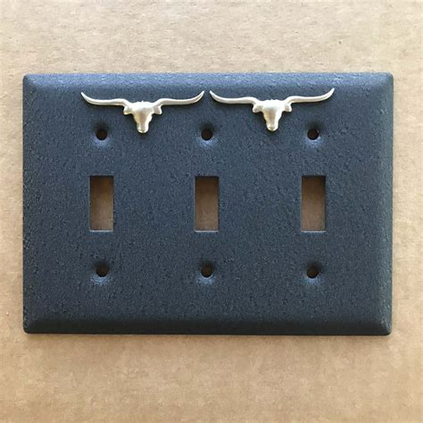 triple light switch cover longhorn triple light switch cover old west icons