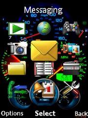 sony ericsson j105i naite themes speedometer theme for sony ericsson mobile phones