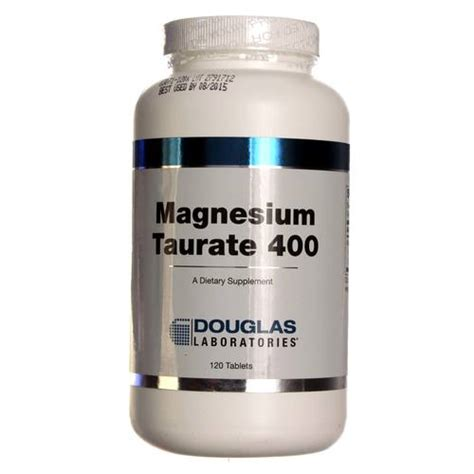 Magnesium Taurate Detox by Douglas Labs Magnesium Taurate 400 Mg 120 Tablets
