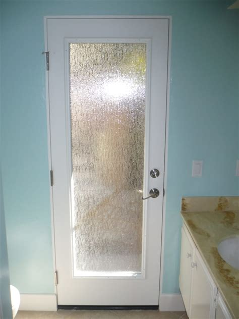 rain glass bathroom window new pre hung door with rain obscured glass yelp