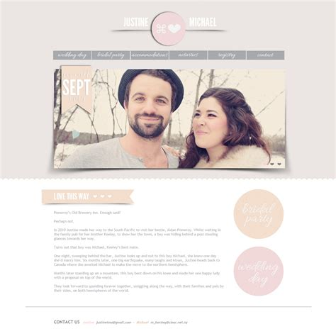 Wedding Photo Website by Wedding Websites Decoration
