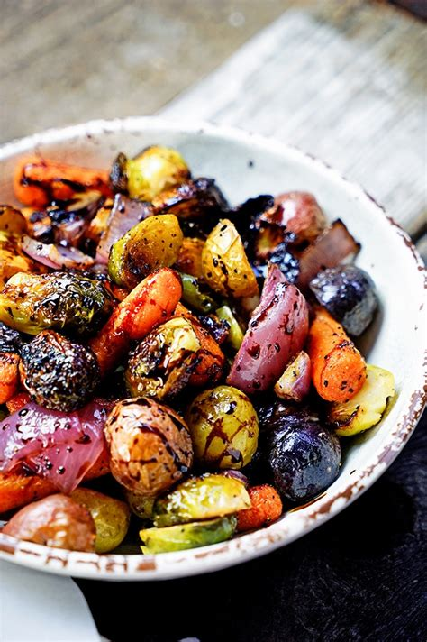 vegetables roasted easy roasted vegetables with honey and balsamic syrup