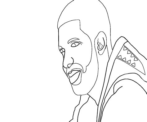 drake drawing coloring pages