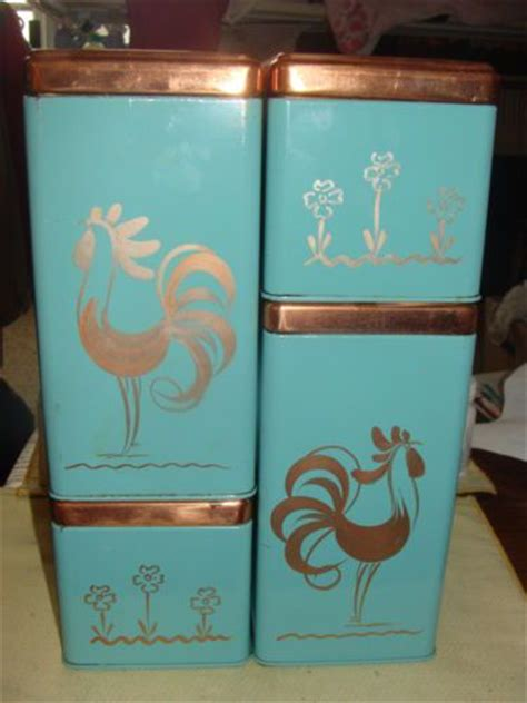 vintage ransburg metal kitchen canisters unique rhinestone design 355 best crazy about my red chicken kitchen
