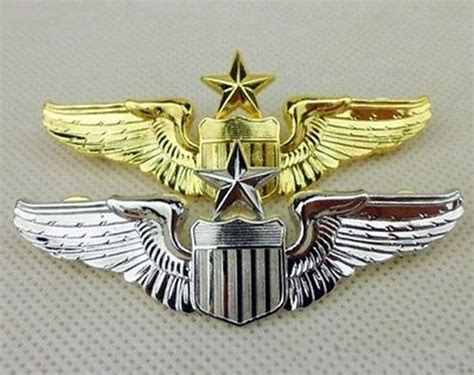 Wing Pilot Badge Us Air Usaf Emblem us 1 pair usaf u s air senior pilot metal wing pin badge insignia us215 in sports