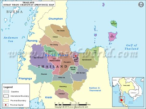 Area Code 207 by Surat Thani Map Map Of Surat Thani Province Thailand