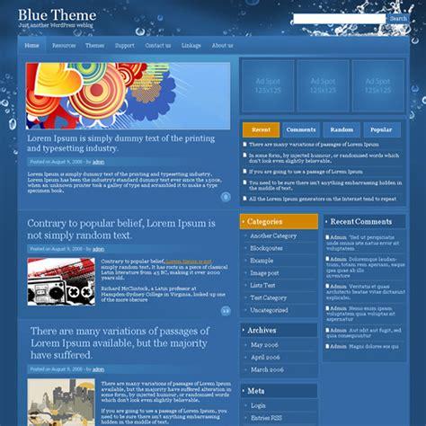 bluesplash wordpress personal wordpress themes