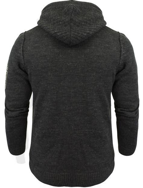 mens knit hoodie mens dissident cruise zip up hooded sweater hoodie knitted