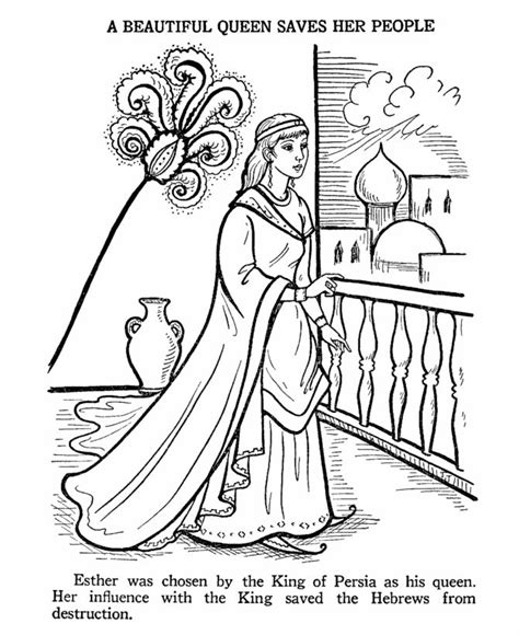printable coloring pages of queen esther ester bible story coloring page esther pinterest