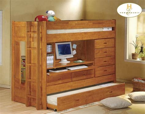 Homelegance All In One Bunk Bed And Workstation B21a All In One Bunk Bed With Desk