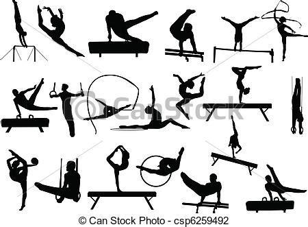 clipart ginnastica illustrazioni vettoriali di silhouette ginnastica